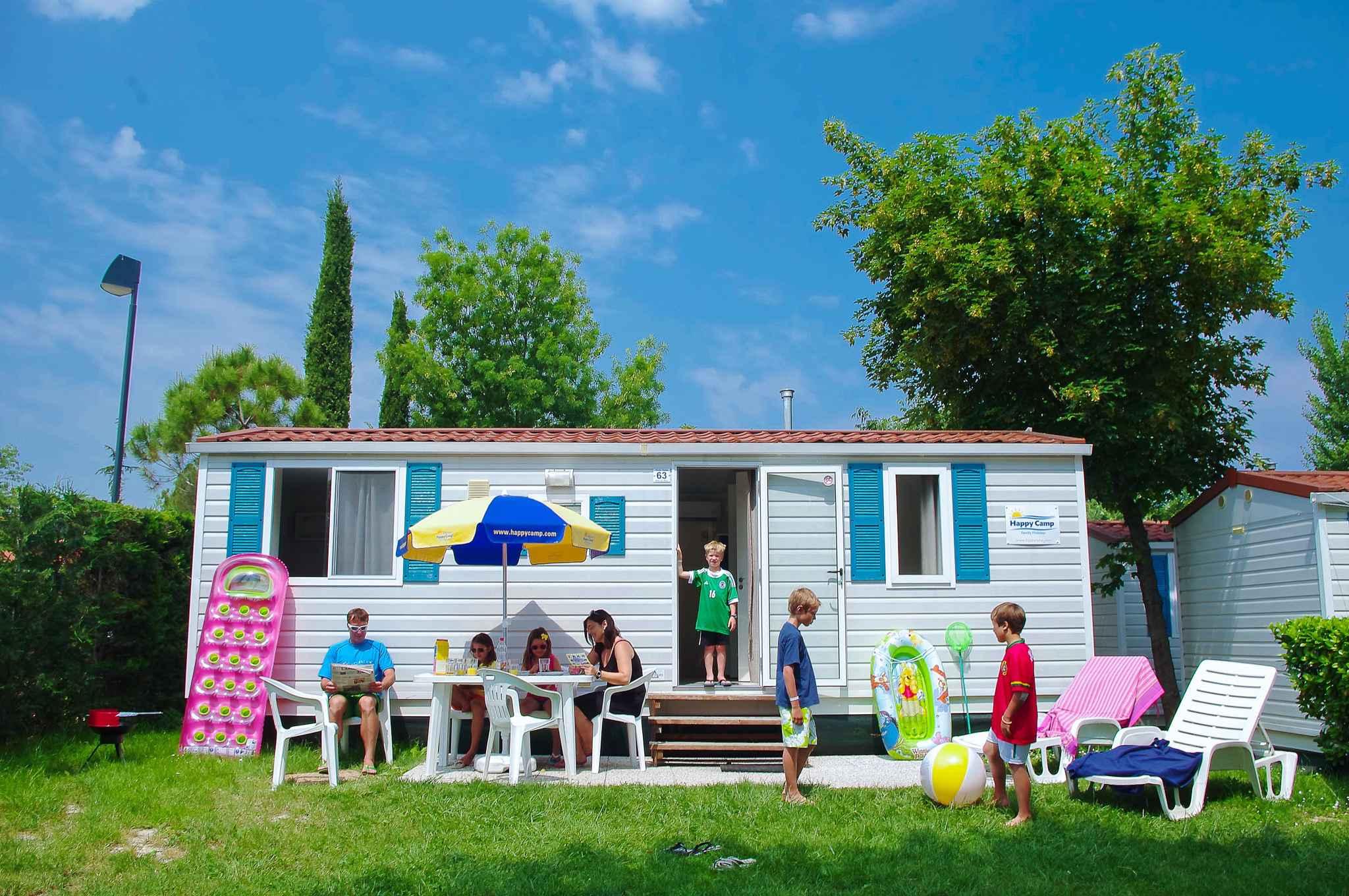 Mobilehome auf dem Campingplatz Bella Italia Ferienhaus  Gardasee - Lago di Garda