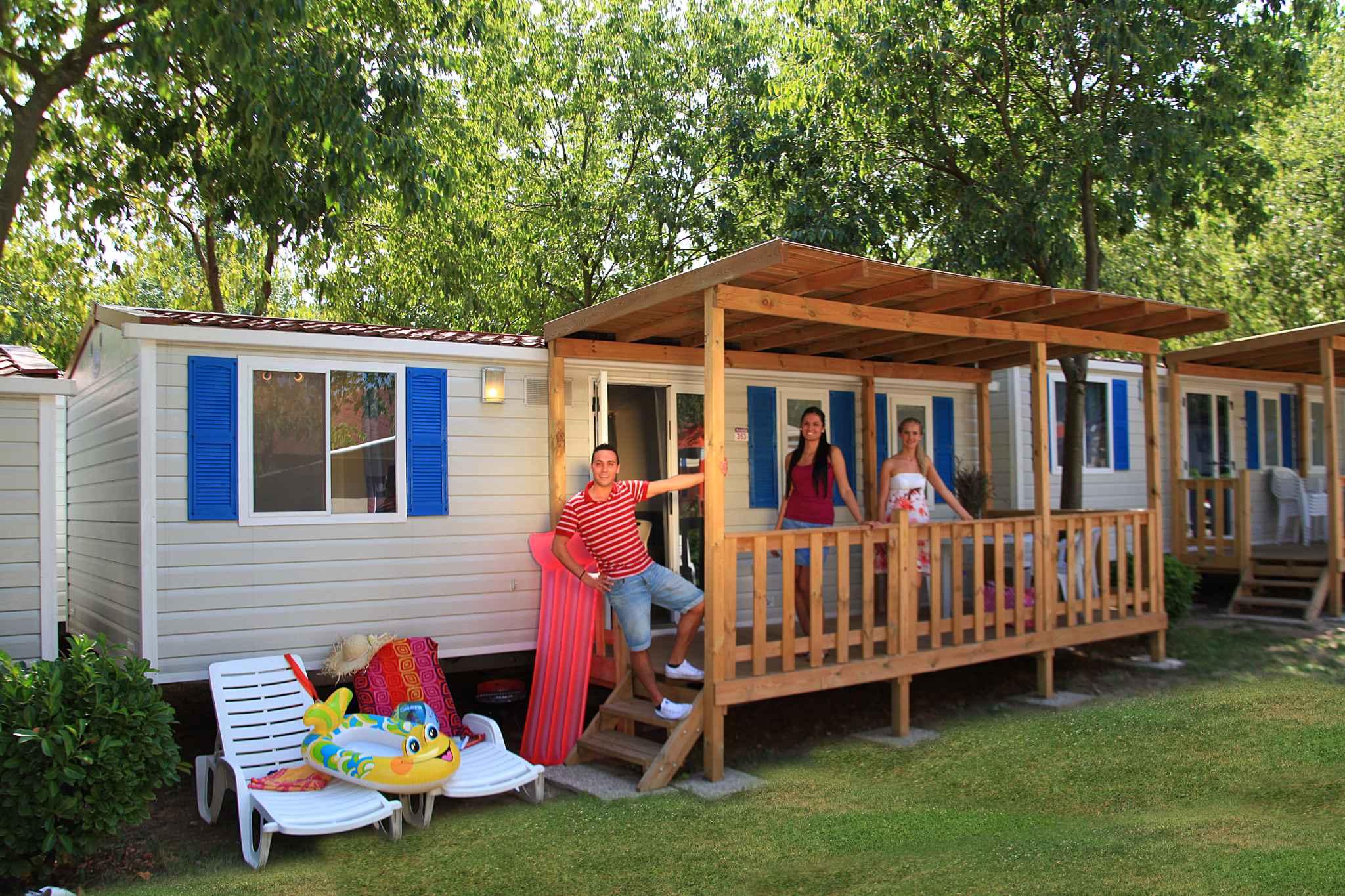 Mobilehome auf einem Campingplatz Ferienhaus  Gardasee - Lago di Garda