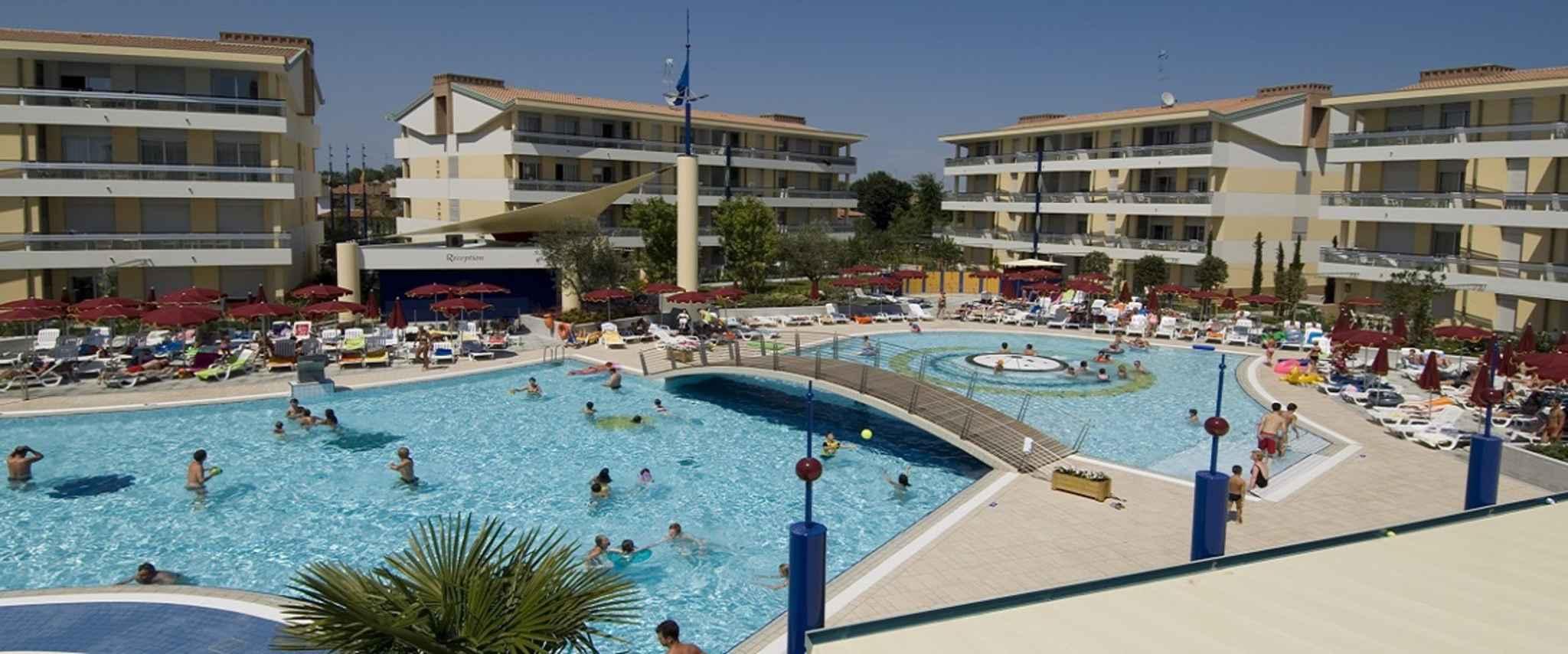 Ferienwohnung mit Wasserrutsche und Poollandschaft  in Italien