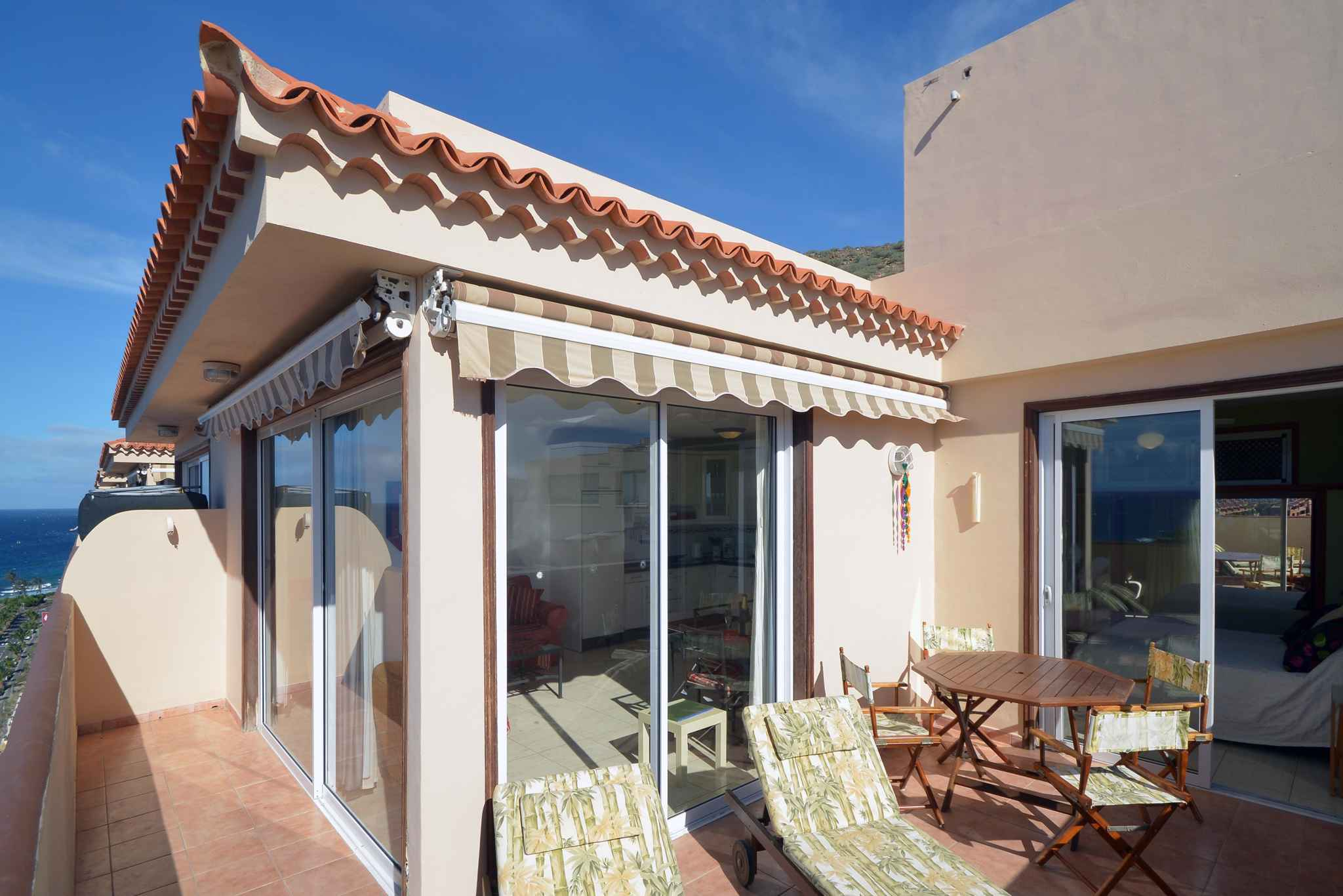 Holiday apartment Penthousewohnung mit freiem Meerblick (1671165), Palm-Mar, Tenerife, Canary Islands, Spain, picture 2