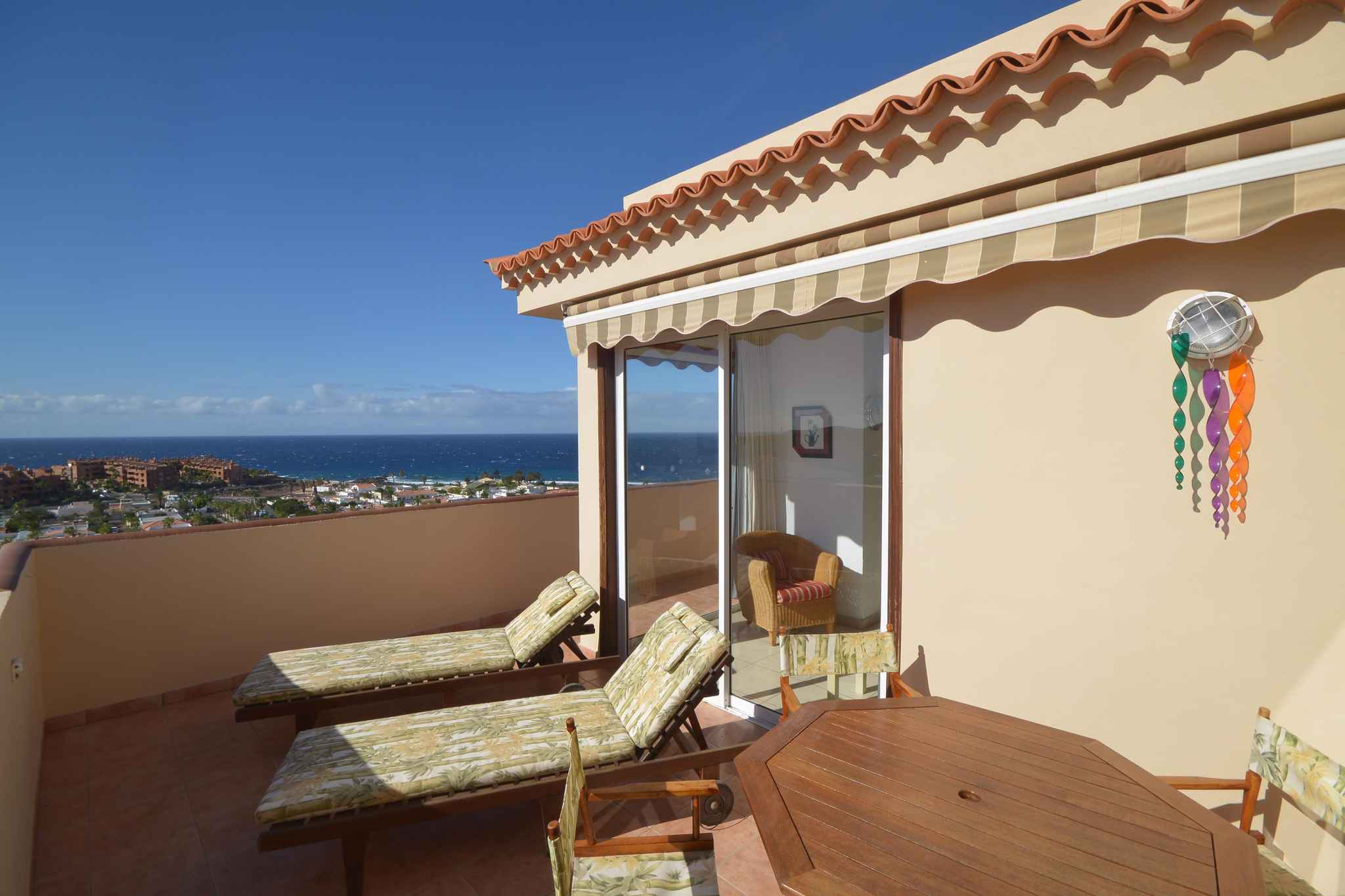 Holiday apartment Penthousewohnung mit freiem Meerblick (1671165), Palm-Mar, Tenerife, Canary Islands, Spain, picture 4